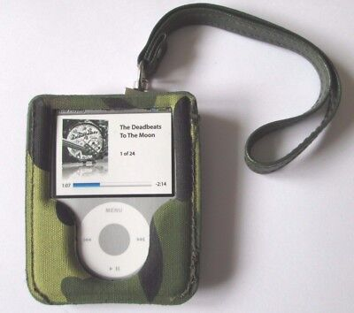 Ipod Nano 3Rd Gen Case/shell With Wrist Strap Maloperro Camouflage Narcotic