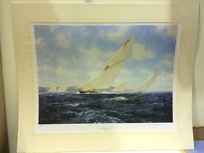 Steven Dews - Britannia Racing Off Cowes - Mounted ( In Stock)