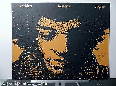 Moebius Hendrix Coghe Vintage Cover Proof Signed By Artist 2001 Angouleme France