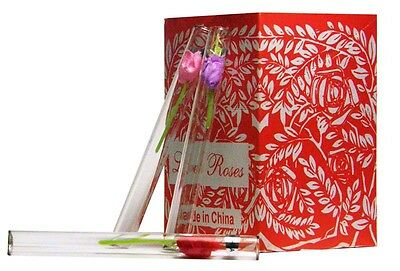 1728 tube Love Roses Glass Tubes 48 boxes of 36 SAME DAY SHIPPING FREE