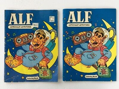 ALF ASTRONAUT ADVENTURES  coloring book Pre-owned Rare