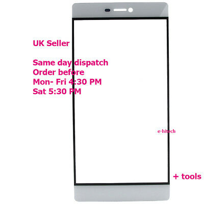 Huawei P8 P 8 Front Outer Glass Touch Screen Display Panel White  Ascend P8
