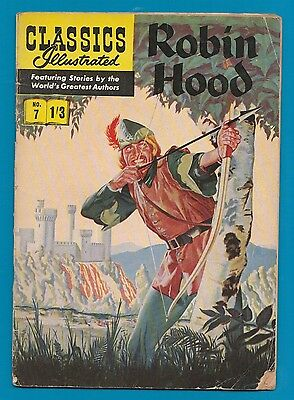 Classics Illustrated Comic Book # 7 early edition Robin Hood #728