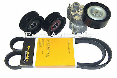 V-RIBBED BELTS SET + TENSIONER MERCEDES SPRINTER CDI Build Year 2000- > 2006