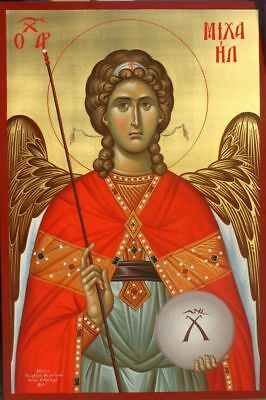 Archangel Michael-MADE TO ORDER Eastern Orthodox Byzantine icon on wood