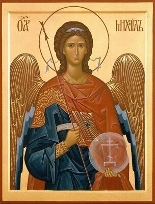 Archangel Michael-Hand Painted Eastern Orthodox Byzantine icon on wood