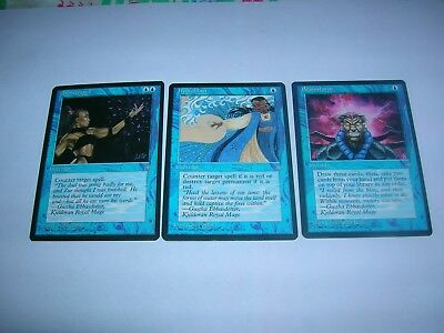 MTG -  ICE  AGE  3 cards differenti  anno 1995  ENG