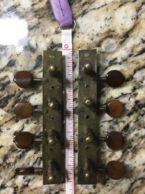 Older Rare Machine Heads For Mandolin brown pearloid buttons