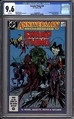 Swamp Thing 50 CGC Graded 9.6 1st Appearance Dark Justice League DC Comics 1986