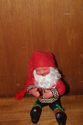 Collectible Arne Hasle Elf Gnome Doll from Norway Norge Nisse Christmas Elf