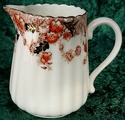 Vintage Antique Sutherland Hand Painted Fluted Milk Jug 0.5pt Imari Gold Hudson