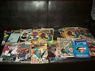 Great Lot Of Dc And Marvel Comics Great For Collectors, Spiderman Superman