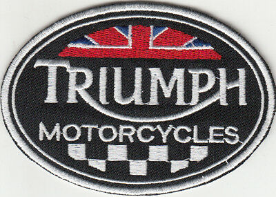 Triumph Motorcycle Embroidered Patch