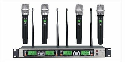 GTD 4x100 Channel UHF Wireless Handheld Microphone Mic System 500 Mhz Band B-33H
