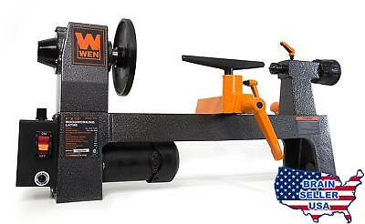 """WEN 3420 8"""" by 12"""" Variable Speed Benchtop Wood Lathe, New, Free Ship"""