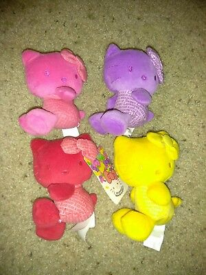 Hello Kitty 35Th Anniversary Colors Plush 4 Pack