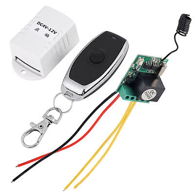 4V 5V 6V 7.4V 9V 12V Relay DC ON-OFF Wireless Remote Control Switch+Transmitter