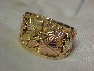 Early Vintage Black Hills Gold Band Weighty 7.2 grams,10k 12k, NOT scrap gold