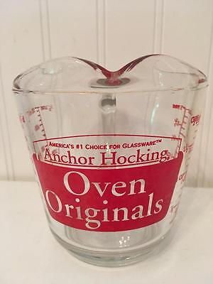 Anchor Hocking Oven Originals 2 Cup Measuring Cup Pint 498 Microwave Safe Glass