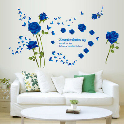 New 3D Rose Flower Removable Vinyl DIY Wall Sticker Decal Mural Home&Room Decor