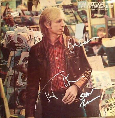 Tom Petty And The Heartbreakers Autographed LP Signed By 4