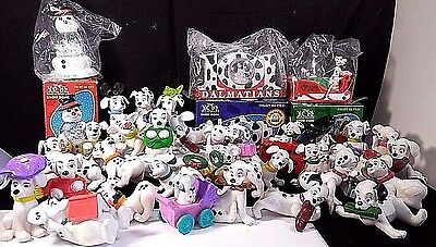 lot 36 figurine Snow Dome Poster 1996 McDonald's Disney 101 Dalmatians Collector