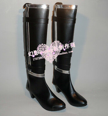 Dead Or Alive Ayane Black Halloween Long Cosplay Shoes Boots H016