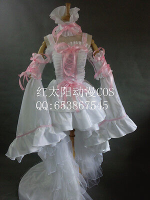 Chobits Chii's Dress Pink with White Women Party Dress Cosplay Costume