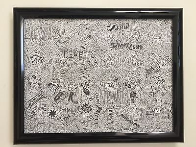 Rock & Roll Bands Framed Print