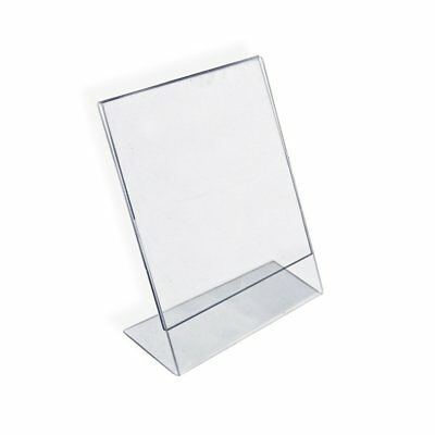 Azar 112714 Vertical Slanted L-Shape Acrylic Sign Holder, 10 Count