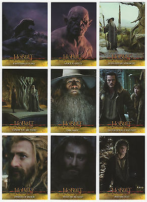 2015 Hobbit Desolation of Smaug 72 Card Base Set + Empty Hobby Box & Wrappers