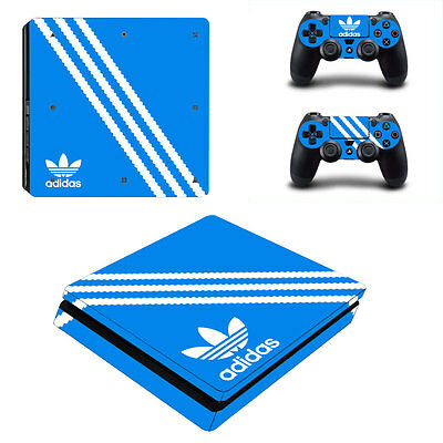 Adidas Vinyl Decal PS4 Slim Skin Sticker for Sony PS4 S Controller and Console