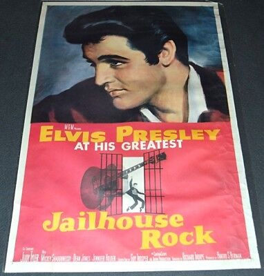 JAILHOUSE ROCK 1997 26x39 MOVIE POSTER! ELVIS PRESLEY & GUITAR MUSICAL CLASSIC!