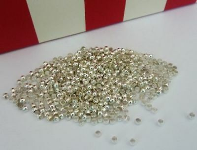 500 pce Silver Tone Barrel Metal Crimp Beads 2mm Jewellery Making Craft