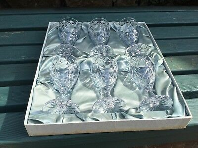 Webb Corbett Crystal Glasses Boxed And Signed Signed Circa 1963