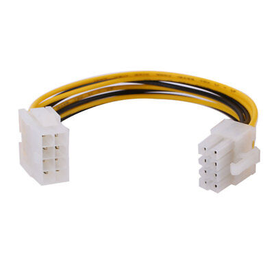 8 Pin 12V Male to Female CPU Motherboard Extension Power Cable Cord Connector