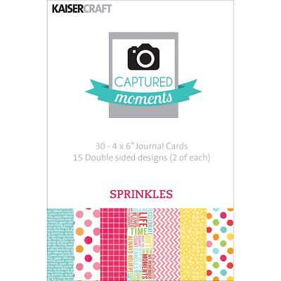 "Captured Moments Double-Sided Cards 6""X4"" 30/Pkg Sprinkles 883416283201"