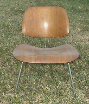 All Original EAMES  LCM Herman Miller Molded Plywood, Chrome, marked Dec.,1952