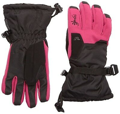(Large, Pink - Black/Deep Pink) - Stomp Gordini Girls'Gloves Junior II Gloves
