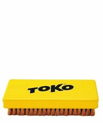(Yellow, ONE) - Snowboard Ski Tool Toko Base Brush Copper. Shipping is Free