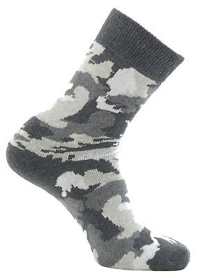 (Size 12½-3, Camo Army/Arctic) - Horizon Boy's 2 Pack Sock. Shipping is Free