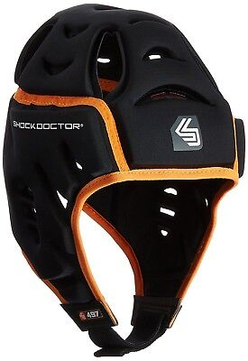 (Small/Medium, Black) - Shock Doctor Men's Shock Skin Rugby Head Guard