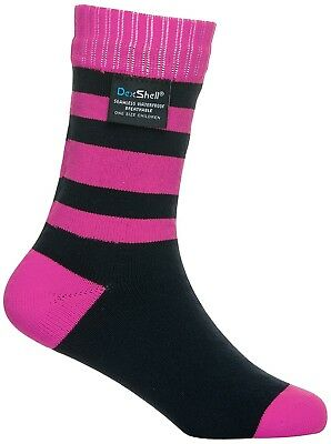 (Size 9 - 12, Pink Stripe) - Dexshell Children's Smart Socks. Free Shipping