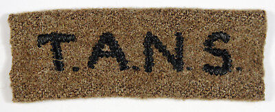 T.A.N.S. WW2 Embroidered Cloth Shoulder Title