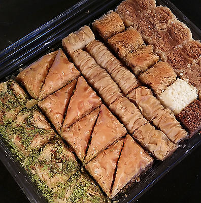 Quality Mixed Baklava Pastries Freshly Handmade 1kg Great for Christmas Free P&P