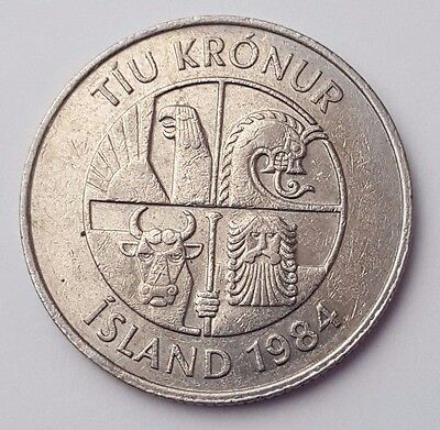 Dated : 1984 - Iceland - 10 Kronur - Coin