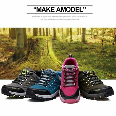 Outdoor Leather Scrub Waterproof Mountaineering Shoes Women Hiking Boots IL