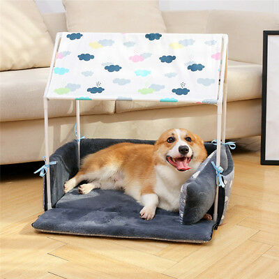 Warm Cotton Pet Dog Kennel Cat Puppy Soft Warm Bed Mat Pad Cushion Blanket House