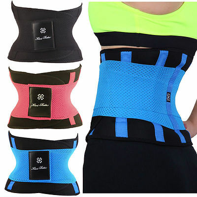 AU Unisex Xtreme Power Hot Slimming Thermo Belly Shaper Waist Trainer Corset /7