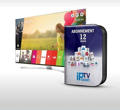 ✔ 12 Mois d'abonnement IPTV,Smart TV, MAG,ANDROID,KODI,M3U,M3U ASSISTANCE 24/7
